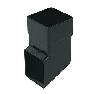 Image of FloPlast 65mm Square Line Downpipe Shoe - Black