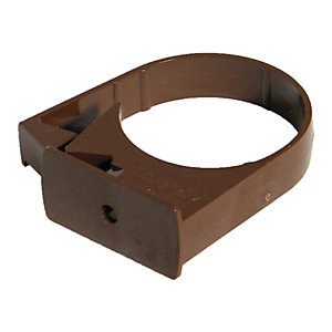 FloPlast 50mm MiniFlo Downpipe Pipe Clip - Pack of 2 - Brown