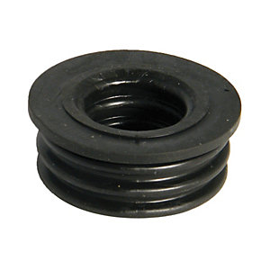 FloPlast 40mm Boss Pipe Rubber Adaptor - Black