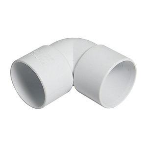 FloPlast WS10W Solvent Weld Waste 90 Deg Bend - White 32mm