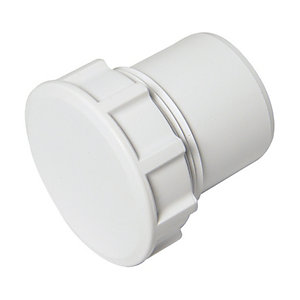 FloPlast WS31W Solvent Weld Waste Access Cap - White 40mm
