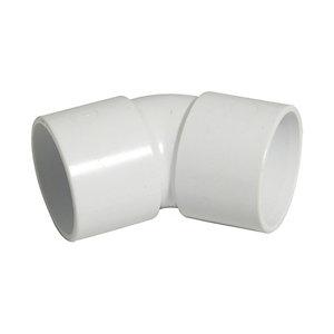 FloPlast WS18W Solvent Weld Waste 135 Deg Bend - White 32mm