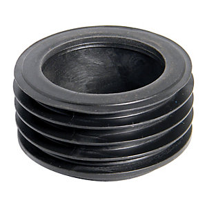 FloPlast 110mm Universal Rainwater Adaptor Underground Drainage to 65mm Square or 68mm Round Downpipe - Black