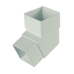 Image of FloPlast 65mm Square Downpipe Offset Bend 112.5° - White