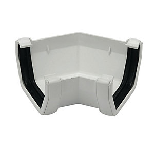 Image of FloPlast 114mm Square Line Gutter Angle 135° - White