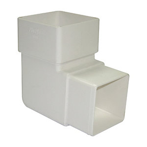 FloPlast 65mm Square Downpipe Offset Bend 92.5 - White