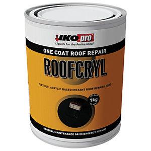 Image of Ikopro Roofcryl One Coat Acrylic Based Roof Repair - Black 1kg