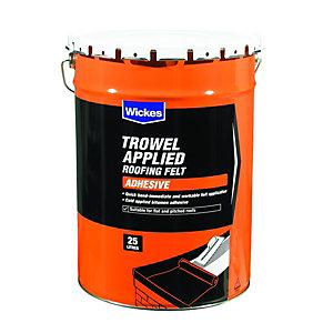 Wickes Trowel On Roofing Felt Adhesive 25L