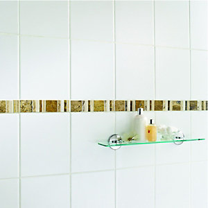 Wickes Midas Beige Natural Stone Border Tile - 296 x 48mm