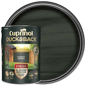 Cuprinol 5 Year Ducksback Matt Shed & Fence Treatment - Forest Green 5L