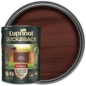 Cuprinol 5 Year Ducksback Matt Shed & Fence Treatment - Rich Cedar 5L