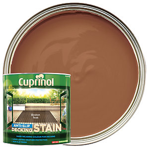 Cuprinol Anti-Slip Decking Stain - Boston Teak - 2.5L