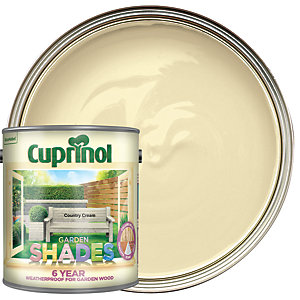 Cuprinol Garden Shades Matt Wood Treatment - Country Cream 2.5L
