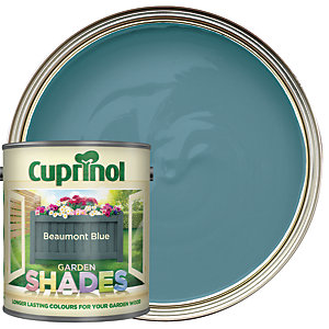 Cuprinol Garden Shades Matt Wood Treatment - Beaumont Blue 1L