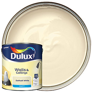 Dulux - Daffodil White - Matt Emulsion Paint 2.5L