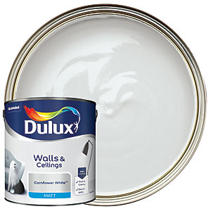 Dulux - Cornflower White - Matt Emulsion Paint 2.5L