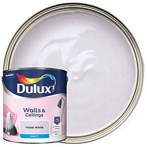 Dulux - Violet White - Matt Emulsion Paint 2.5L