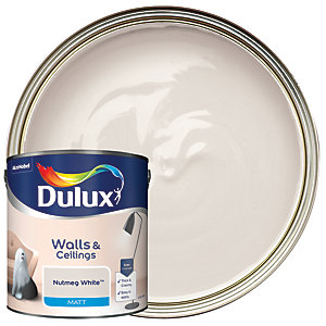 Dulux - Nutmeg White - Matt Emulsion Paint 2.5L