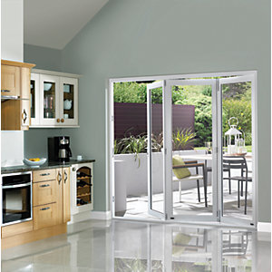 Wickes Burman Slimline Finished Bi-fold Door Set White