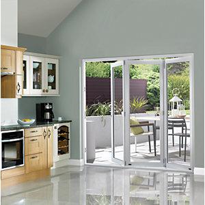 Image of Wickes Burman Slimline Finished Bi-fold Door White 8ft Wide
