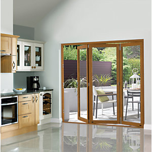 Wickes Eden Finished Oak Veneer Bi-fold Door Set