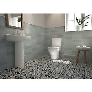 Wickes Soho Green Ceramic Wall Tile - 300 x 100mm