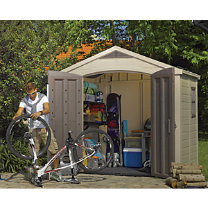 Keter Factor Double Door Plastic Apex Shed - 8 x 6 ft
