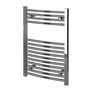 Kudox Curved Towel Radiator - Chrome 500 x 750 mm
