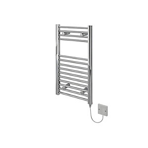 Kudox Flat Electric Towel Radiator - Chrome 400 x 700 mm
