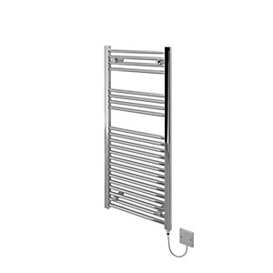 Kudox Flat Electric Towel Radiator - Chrome 500 x 1100 mm