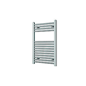 Wickes Straight Towel Radiator - Chrome 500 x 750 mm