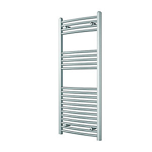 Wickes Curved Towel Radiator - Chrome 500 x 1200 mm