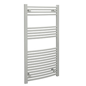 Wickes Curved Towel Radiator - White 500 x 1200 mm