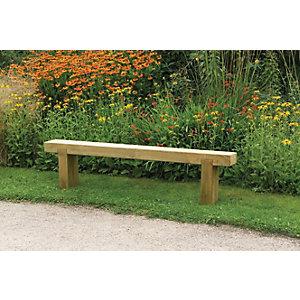 Forest Garden Sleeper Garden Bench - 1.8m