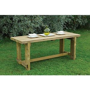 Forest Garden Refectory Wooden Garden Table 1.8m