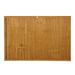 Forest Garden Dip Treated Closeboard Fence Panel - 6 x 4ft Pack of 3