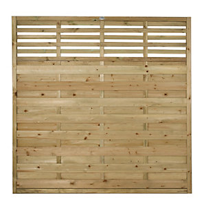 Forest Garden Pressure Treated Kyoto Fence Panel - 6x6ft Multi Packs