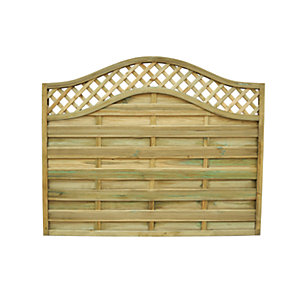 Forest Garden Pressure Treated Bristol Fence Panel - 6 x 5ft Pack of 3