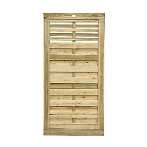 Image of Forest Garden Kyoto Slatted Timber Gate - 900 x 1800 mm