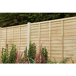 Wickes Pressure Treated Overlap Fence Panel - 6 x 6ft