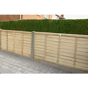 Forest Garden Pressure Treated Overlap Fence Panel - 6ft x 3ft