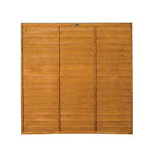 Wickes Dip Treated Overlap Fence Panel - 6 x 6ft