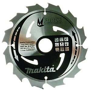 Makita B-07967 M-force 12 Teeth Circular Saw Blade - 190 x 30mm