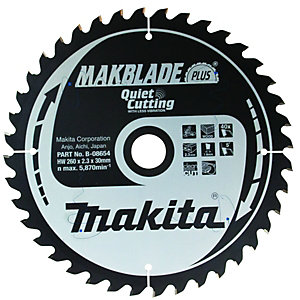 Makita B-08654 Makblade Plus 40 Teeth Circular Saw Blade - 260 x 30mm