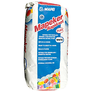 Mapei Mapeker Rapid Set Flexible Tile Adhesive White - 20kg