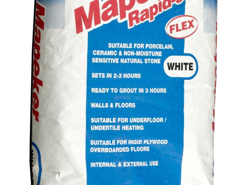 Mapei Mapeker Rapid Set Flexible Tile Adhesive White - 20kg