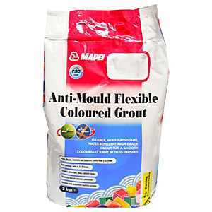 Mapei Anti-Mould Flexible Coloured Tile Grout Black 5kg