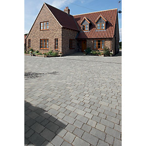 Marshalls Drivesett Tegula Driveway Block Paving - Pennant Grey 240 x 160 x 50mm Pack of 284