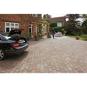 Marshalls Drivesett Tegula Driveway Block Paving - Harvest 240 x 160 x 50mm Pack of 284