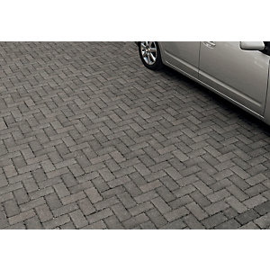 Marshalls Driveline Priora Driveway Block Paving - Charcoal 200 x 100 x 60mm Pack of 404